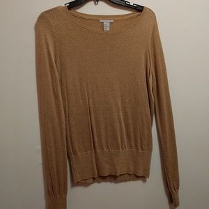 H&M gold shimmer sweater